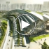 عکس - Arching rooftop walkway tops Aedas West Kowloon Station in Hong Kong